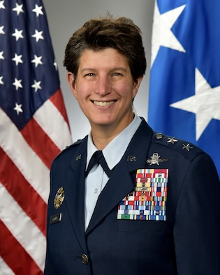 This is the official portrait of Maj. Gen. Angela M. Cadwell.