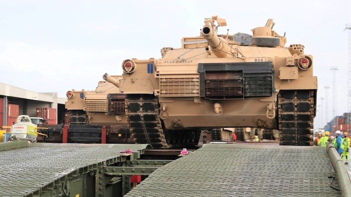 7th Atlantic Resolve armored rotation equipment arrives in Antwerp, Belgium