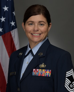 Official Photo of Chief Master Sergeant Nicole Shininger, Band Manager of the United States Air Force Band of Mid-America