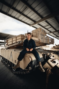 U.S. Marine Corps Cpl. Cayden Springman, a tank crewman with 1st Tank Battalion, 1st Marine Division, poses for a photo at Marine Corps Air Ground Combat Center Twentynine Palms, California, June 25, 2020.