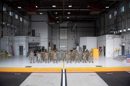 Members assigned to the 158th Maintenance Group low observable shop in their new building at the Vermont Air National Guard base, South Burlington, Vt., Sept. 23, 2020. As the first Air National Guard unit to base the F-35A Lightning II, the 158th Fighter Wing is now also home of the first F-35 low observable (LO) shop in the Air National Guard.