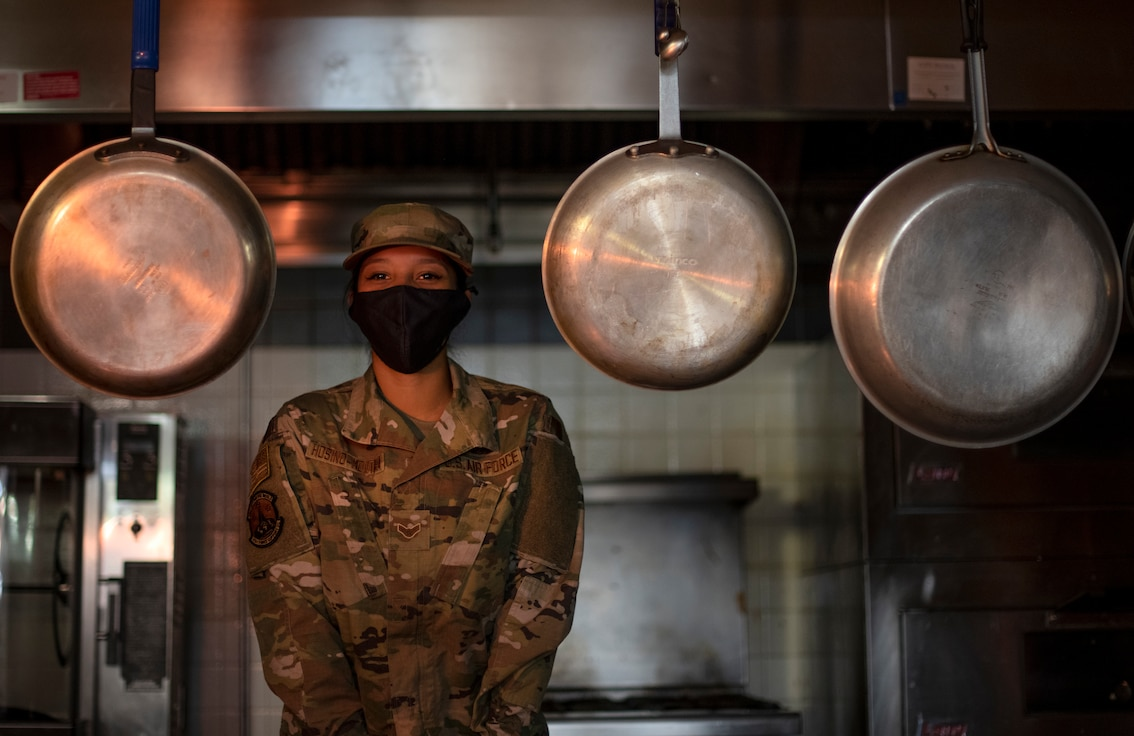 Food service Airmen describe the challenges of running the DFAC during a pandemic
