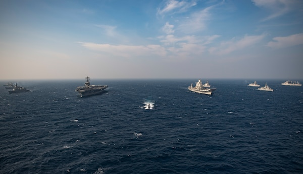 Nimitz Strike Group Concludes Malabar 2020 with Australia, India and Japan