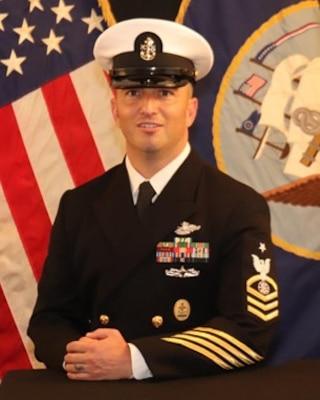 201123-N-N0443-5000 PENSACOLA, Fla. (Nov. 23, 2020) Official photo of Senior Chief Religious Program Specialist Bryan R. Bravo. (U.S. Navy photo)