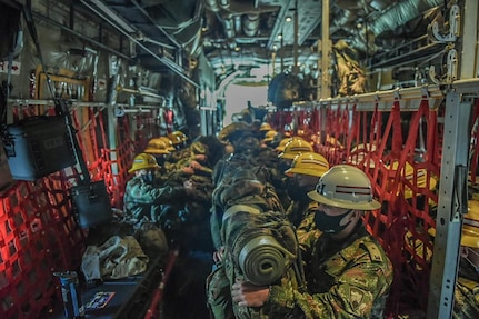 A U.S. Air Force C-130 transported 68 Colombian Army Soldiers to the Colombian island of San Andrés to support post-Hurricane Iota lifesaving and disaster-relief operations in the nearby Colombian island of Providencia.