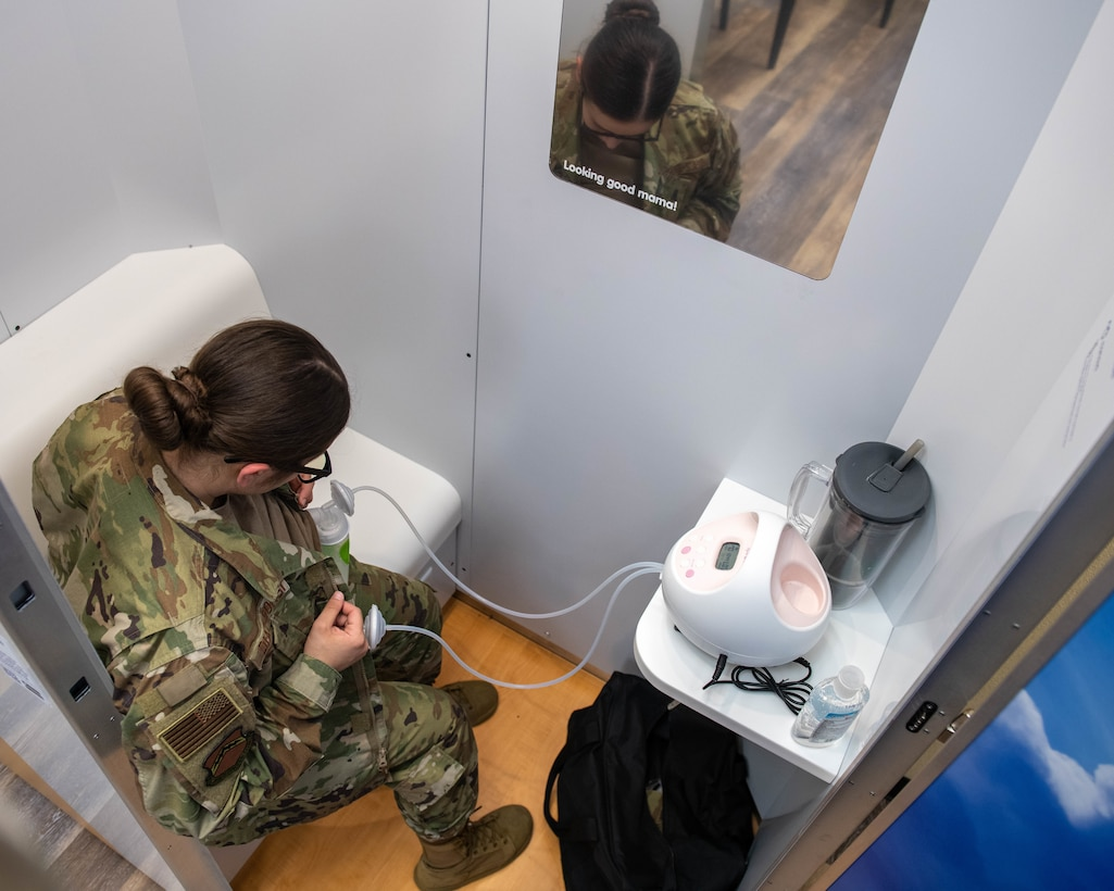 Mobile lactation pods provide secure location for nursing mothers to breastfeed/pump