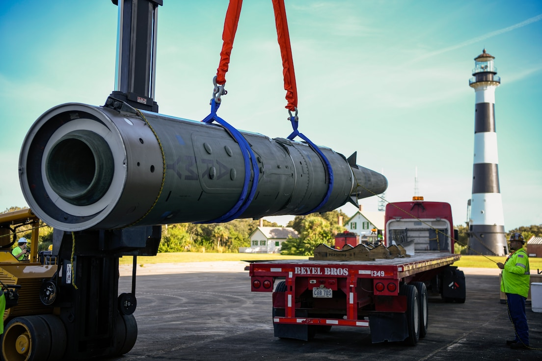 Pershing II missile returns to CCAFS after renovations