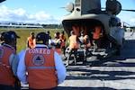 Guatemalan Air Force and CONRED supply humanitarian aid in Guatemala