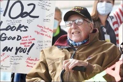 171st celebrates World War II veteran's 102nd birthday