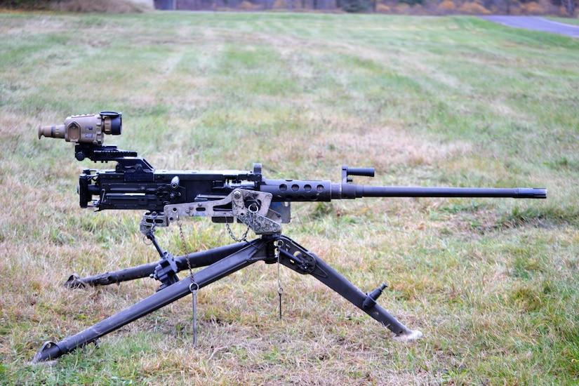The FWS-CS, mounted on an M2 .50 caliber machine gun