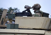 A 3-71 CAV, 10 MTN DIV Soldier makes adjustments to the FWS-CS during a test at Fort Drum, NY