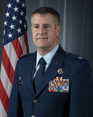 Official portrait of Col. Nelson Perron, 157th Operations Group commander, New Hampshire Air National Guard, Pease Air National Guard Base, N.H., Nov. 24, 2020 (U.S. Air National Guard photo by Tech. Sgt. Aaron Vezeau)