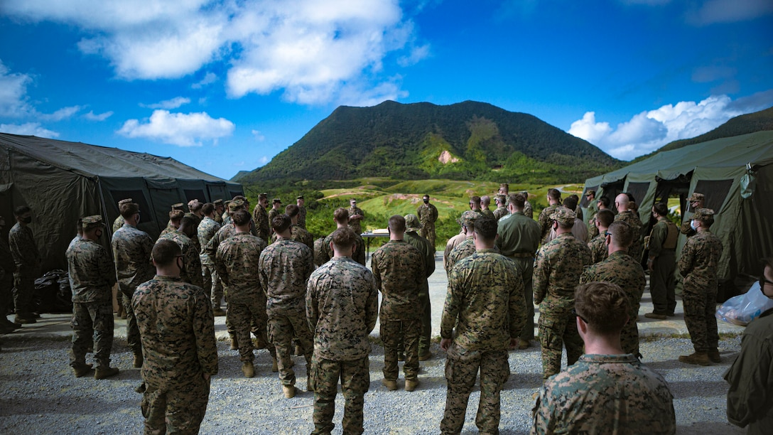 "Explosive ordnance disposal technicians across Okinawa participate in an ""ordnance exploitation proof of concept range"" at Camp Schwab, Japan, Nov. 16 - 25."