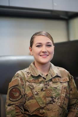 A1C Juliana Martin is an Administrative Technician for the 91st Missile Maintenance Squadron Command Support Staff. Martin's responsibilities include in-processing and out-processing Airmen arriving and leaving Minot, as well as organizing re-enlistments and extension and separation paperwork. Additionally, she assists Airmen with special duty pay, handles leave requests and is involved in the process of awards and decorations for the 791st Maintenance Squadron and the 91st Maintenance Group.