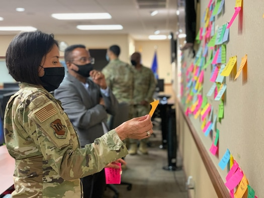 Airman studies on an idea board