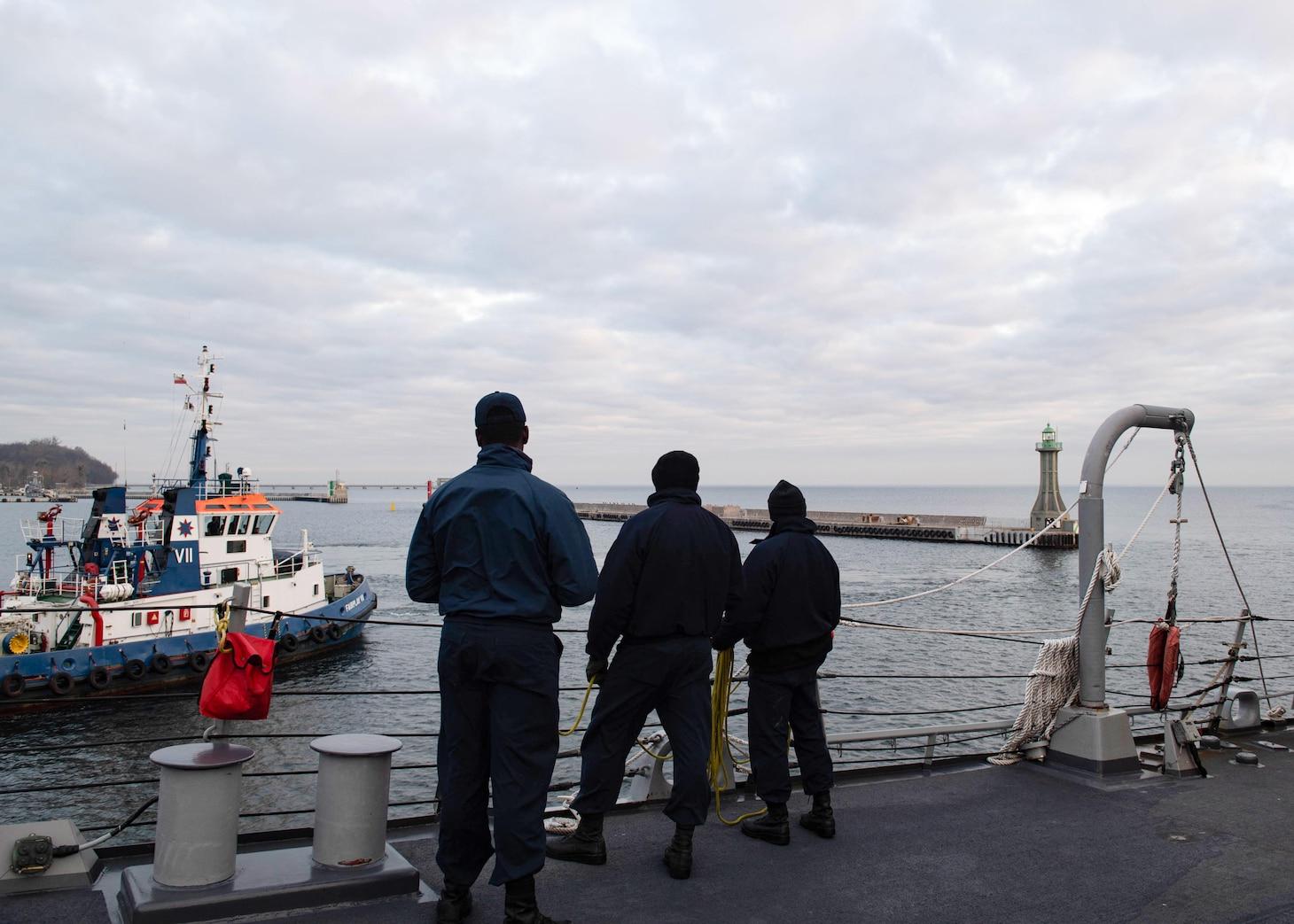 GDYNIA, Poland; USS Ross