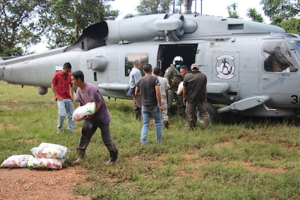 HSM-37, assigned to USS William P. Lawrence (DDG 110), joins U.S. Southern Command's Hurricane Iota relief efforts in Central America.