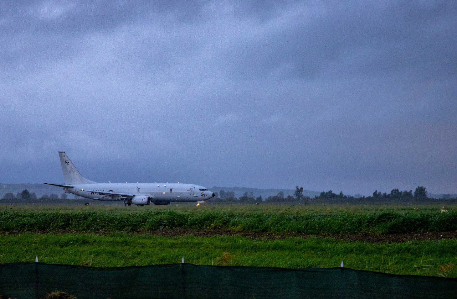 P-8A Poseidon assigned to VP-46 taxis before takeoff