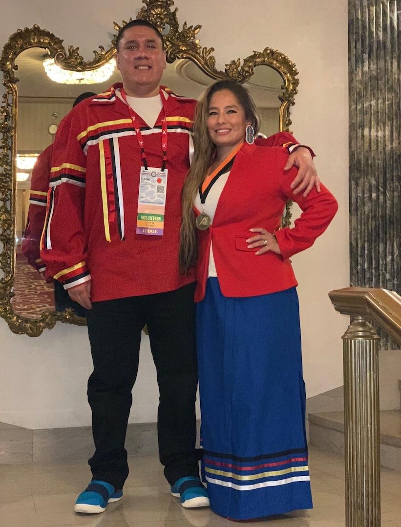 MSgt Frances Dupris and her husband, Chris.