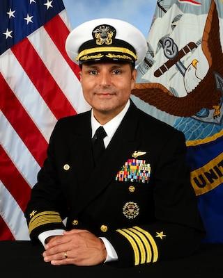 201130-N-N0443-4000 PENSACOLA, Fla. (Nov. 30, 2020) Official photo of Captain Edgardo A. Moreno. (U.S. Navy photo)