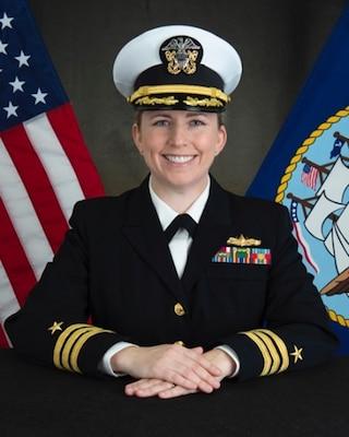 201130-N-N0443-5000 PENSACOLA, Fla. (Nov. 30, 2020) Official photo of Commander Jessica L. Morera. (U.S. Navy photo)