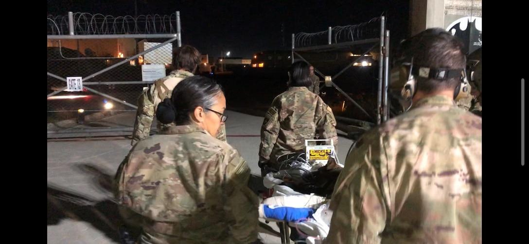 Army Reserve 149th Veterinary Detachment (Forward 2) treat Military Working Dog, Kuno