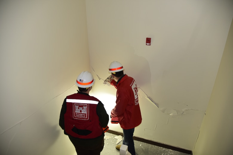 Shown here, team members inspect a clinic facility on the installation.