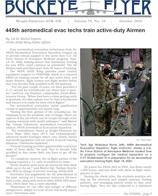 The October 2020 issue of the Buckeye Flyer is now available. The official publication of the 445th Airlift Wing includes eight pages of stories, photos and features pertaining to the 445th Airlift Wing, Air Force Reserve Command and the U.S. Air Force.