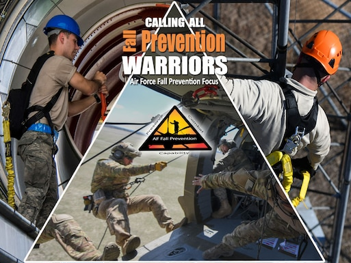 Falls can happen in several different ways and prevention can be practiced. Not just for the upcoming fall season, but also year round. (U.S. Air Force courtesy image from Air Force Safety Center)