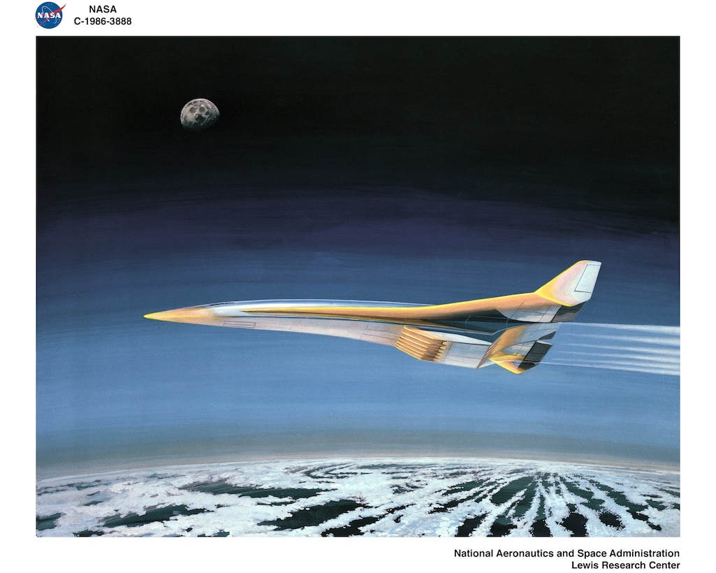 Hypersonic vehicle shoots across the sky.