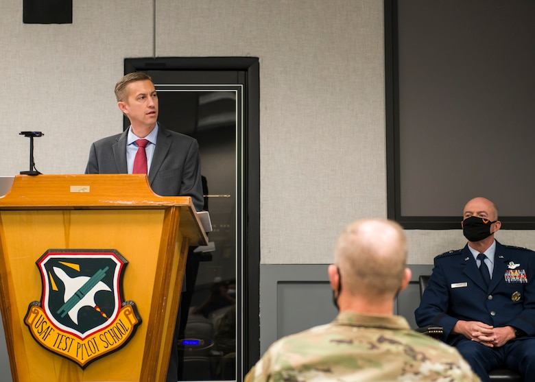 Christopher Klug, the new Multi-Domain Test Force Detachment 1 director, says remarks at the MDTF activation ceremony.