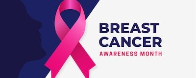 October is National Breast Cancer Awareness month, encouraging education about the importance of knowing the signs and symptoms of breast cancer. According to the Centers for Disease Control and Prevention, one in eight women in the United States will be diagnosed with breast cancer in their lifetime, so it's important to know the symptoms and risk factors. (U.S. Space Force graphic by Airman 1st Class Amanda Lovelace)