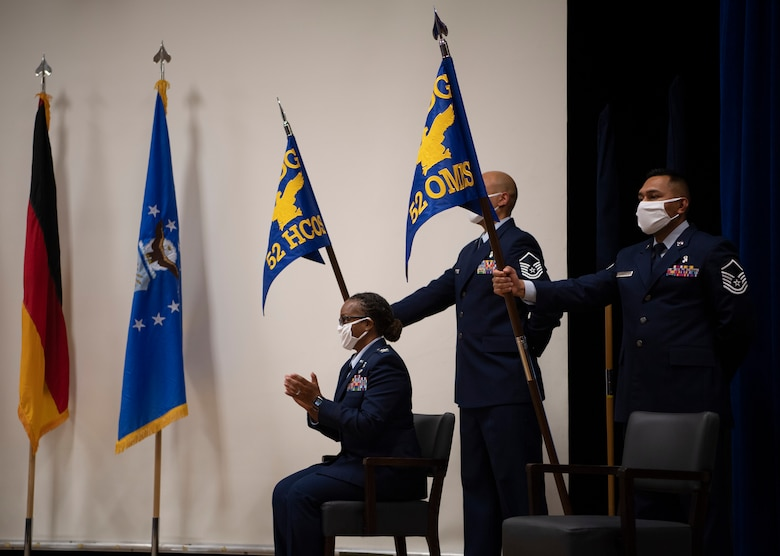 The ceremony re-designated the 52nd Aerospace Medicine Squadron as the 52nd Operational Medical Readiness Squadron, and re-designated the 52nd Medical Operations Squadron as the 52nd Health Care Operations Squadron