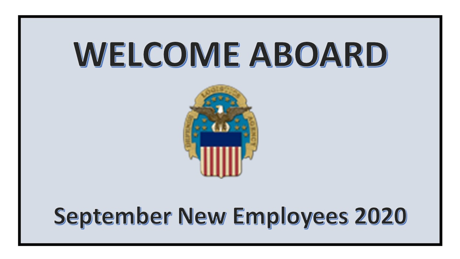 Picture of PowerPoint slide welcoming September 2020 new employees.