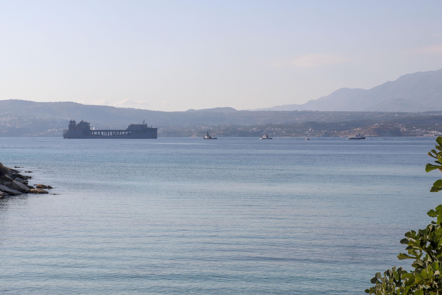 "NAVAL SUPPORT ACTIVITY SOUDA BAY, Greece; USS Hershel ""Woody"" Williams (ESB 4)"