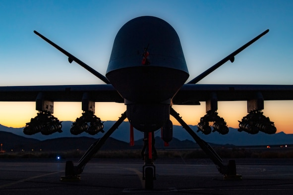 MQ-9 Reaper takes flight with 8 hellfire missiles