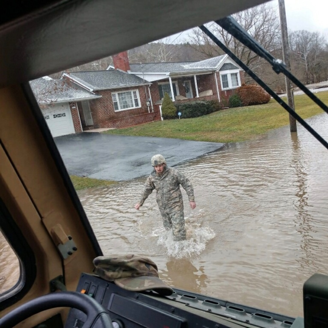 Virginia National Guard Soldiers support flood response in Tazewell County
