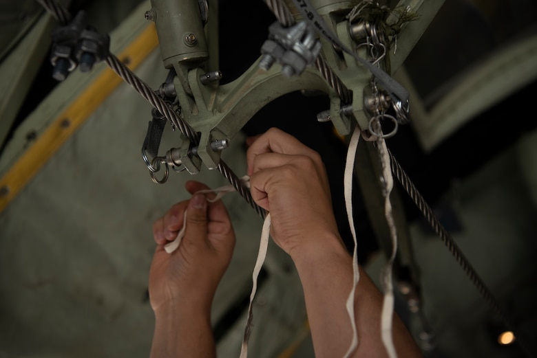 Checks like this ensure the safety of the paratroopers who jump from a plane in mid-flight.