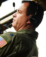 Lt. Col. Glenn Clark, 905th ARS director of operations and KC-46A Pegasus pilot, performs aerial refueling Oct. 3, 2020, at McConnell Air Force Base, Kan.  Glenn was co-pilot during the inaugural flight for the 905th ARS. The 905th ARS reactivated at McConnell in May 2019.  The 905 ARS was the first Air Force flying unit to be assigned to Grand Forks Air Force Base, N.D, and it received its first KC-135 Stratotanker in 1960. The unit stayed at Grand Forks until it deactivated in 2010.