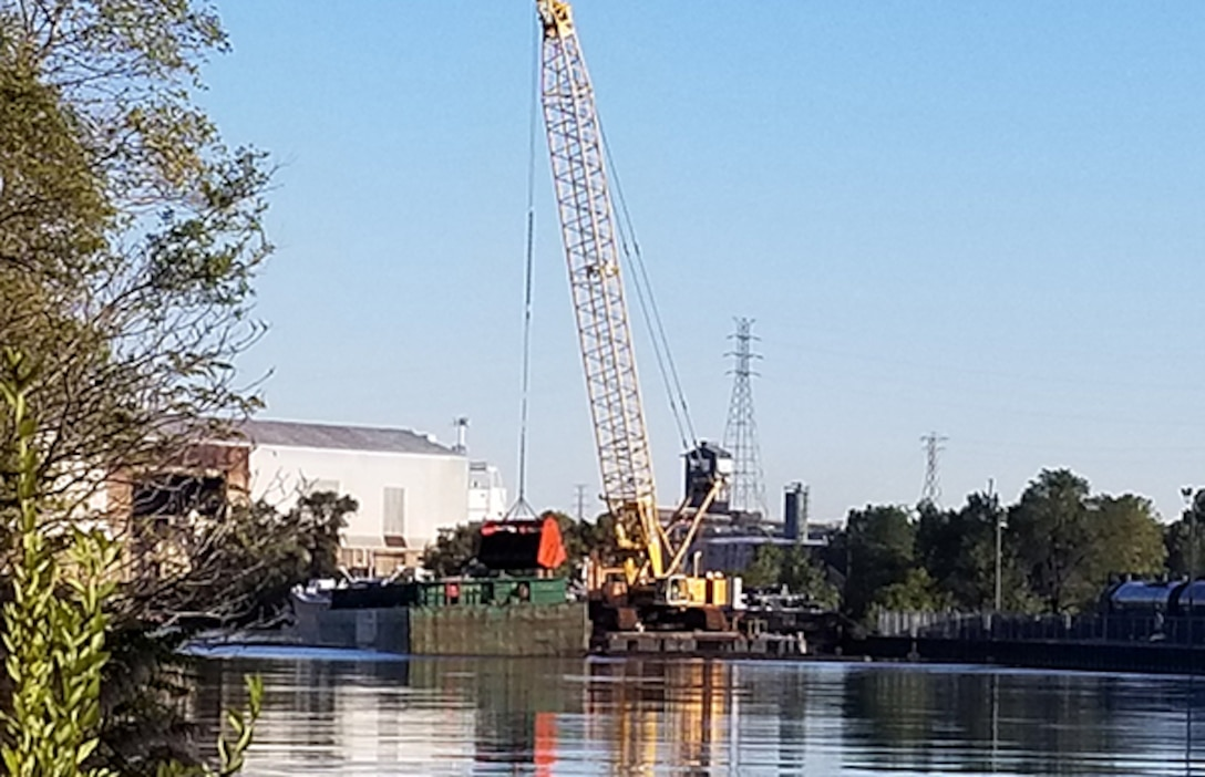 Indiana Harbor dredging, Oct. 5, 2020