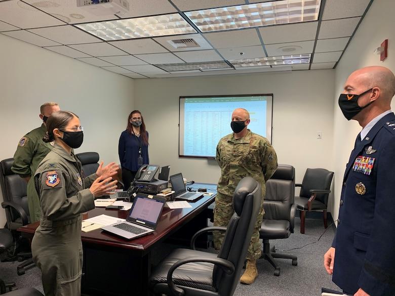 Colonel Pabon, TPS Commandant with Major General Azzano, Air Force Test Center Commander