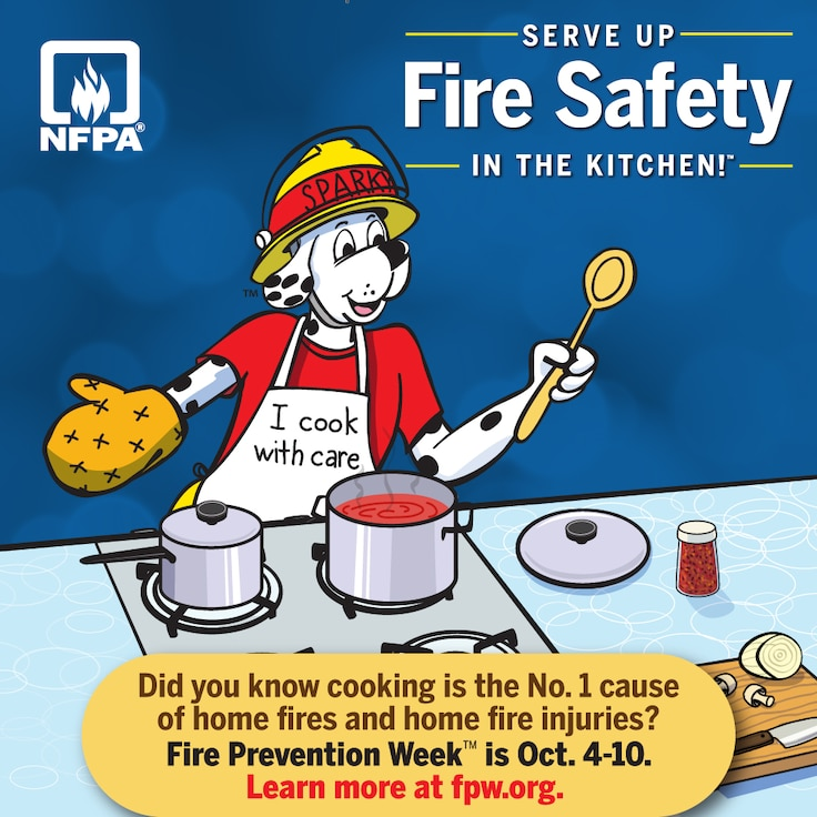 A graphic for Fire Prevention Week
