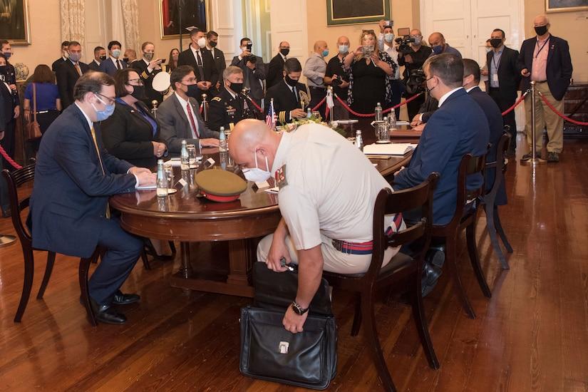 U.S., Maltese officials begin high-level meeting.