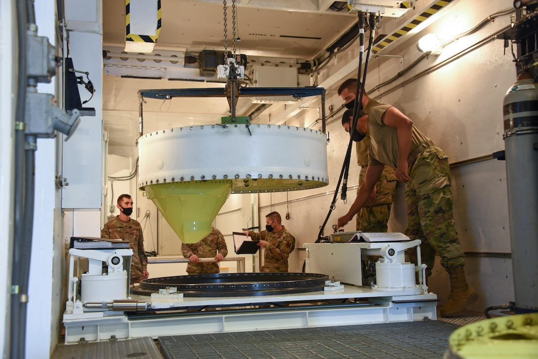 Airmen from the 532nd Training Squadron train on a missile guidance set