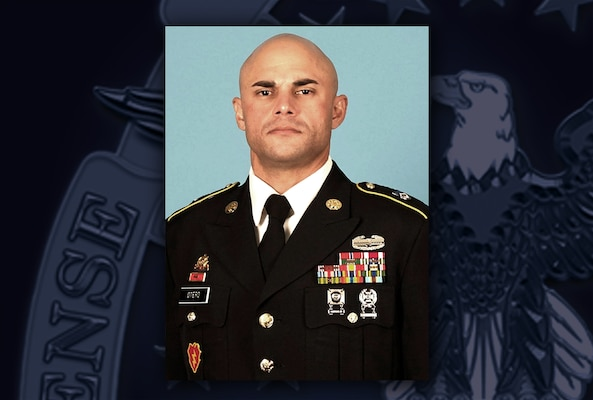 Army Master Sgt. (male) against DLA logo/background.