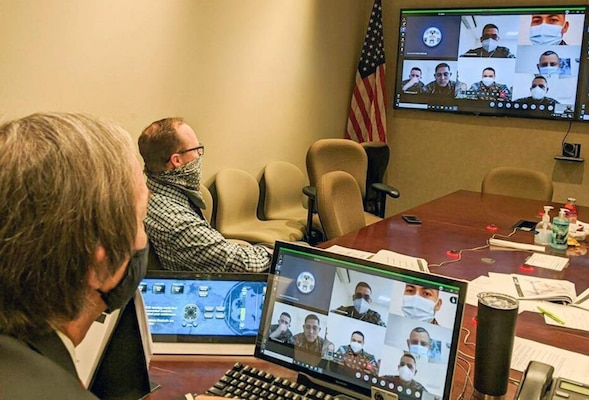 U.S. Army South personnel conduct a subject matter expert exchange with the Salvadoran Army virtually to share information on the Center for Army Lessons Learned Sept. 23.