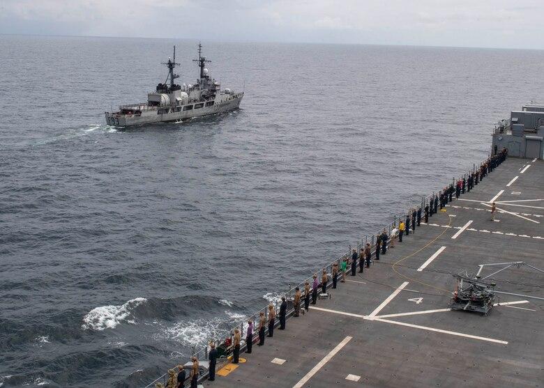 "USS Hershel ""Woody"" Williams and Nigerian Navy Maneuvering Exercise"