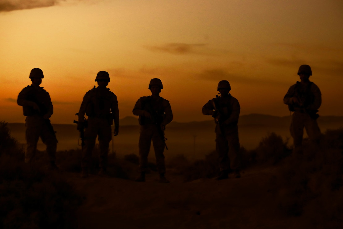 U.S. Marines at Integrated Training Exercise 1-21 at Marine Air Ground Combat Center Twentynine Palms, Calif., Oct. 5.