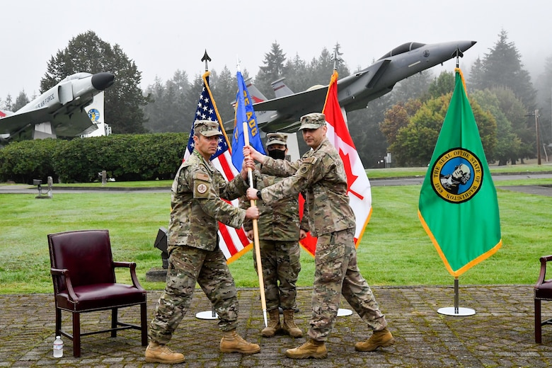 Lt. Col. Camel accepts the guidon