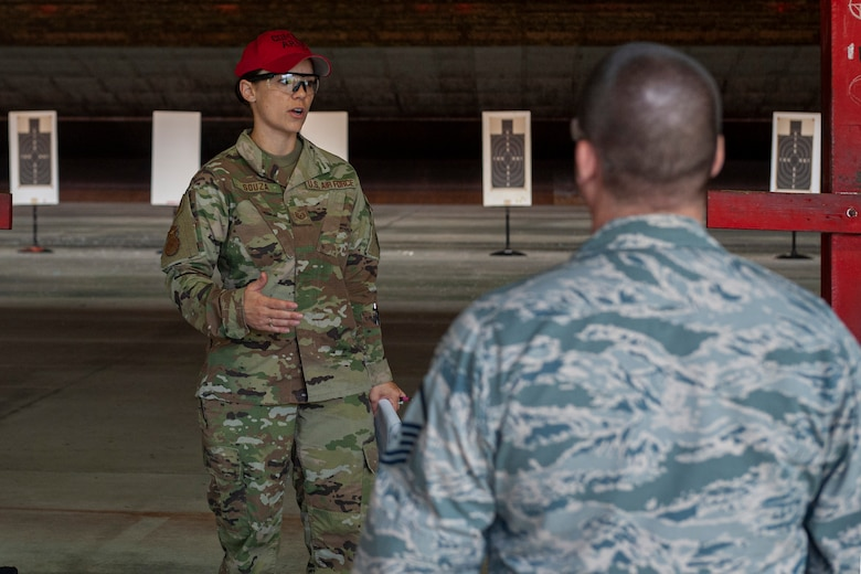 Photo of an Airman giving instructions